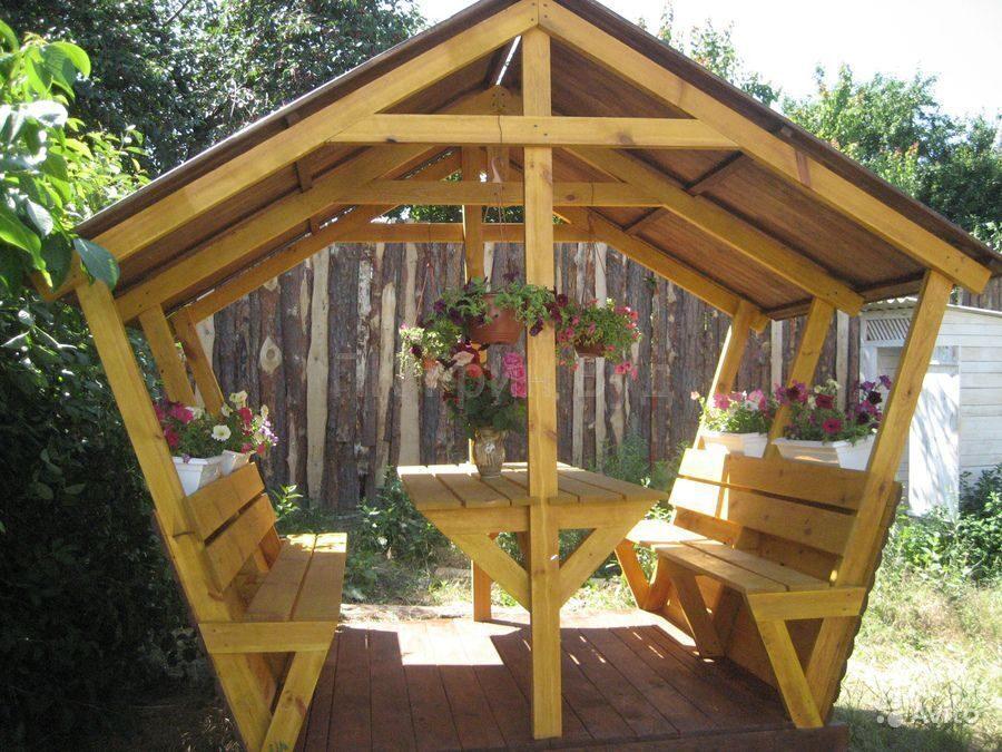 Как дешево сделать беседку в саду